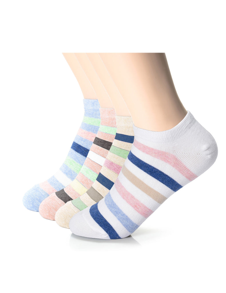 Womens Fashion Casual Dress Striped Ankle Socks (XWM1001L)