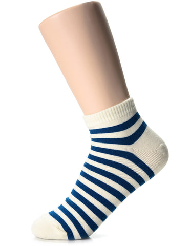 Womens Fashion Striped Casual Dress Ankle Socks (XWM1001M)