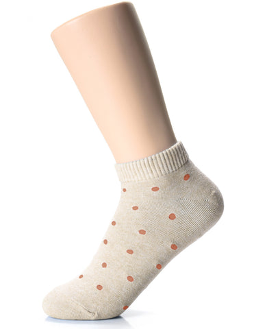 Womens Fashion Casual Dress Polka Dots Low Cut Socks (XWM1001Q)