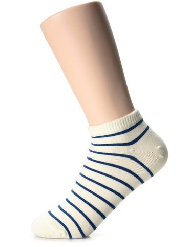 Womens Fashion Casual Dress Striped Low Cut Socks (XWM1001S)