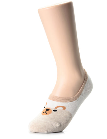 Womens Fashion Animal Friends No Show Socks (XWS1001K)