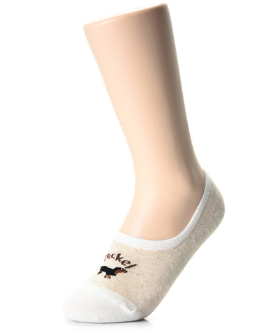 Womens Fashion Dog Friends No Show Socks (XWS1001L)