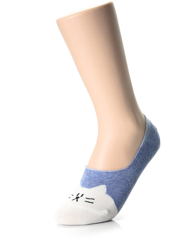 Womens Animal Friends Fashion No Show Socks (XWS1001N)
