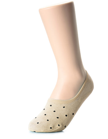 Womens Casual Dress Polka Dots No Show Socks (XWS1001P)