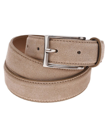 Mens Casual Solid Color Suede Belt with Single Prong Metal Buckle (Y404)