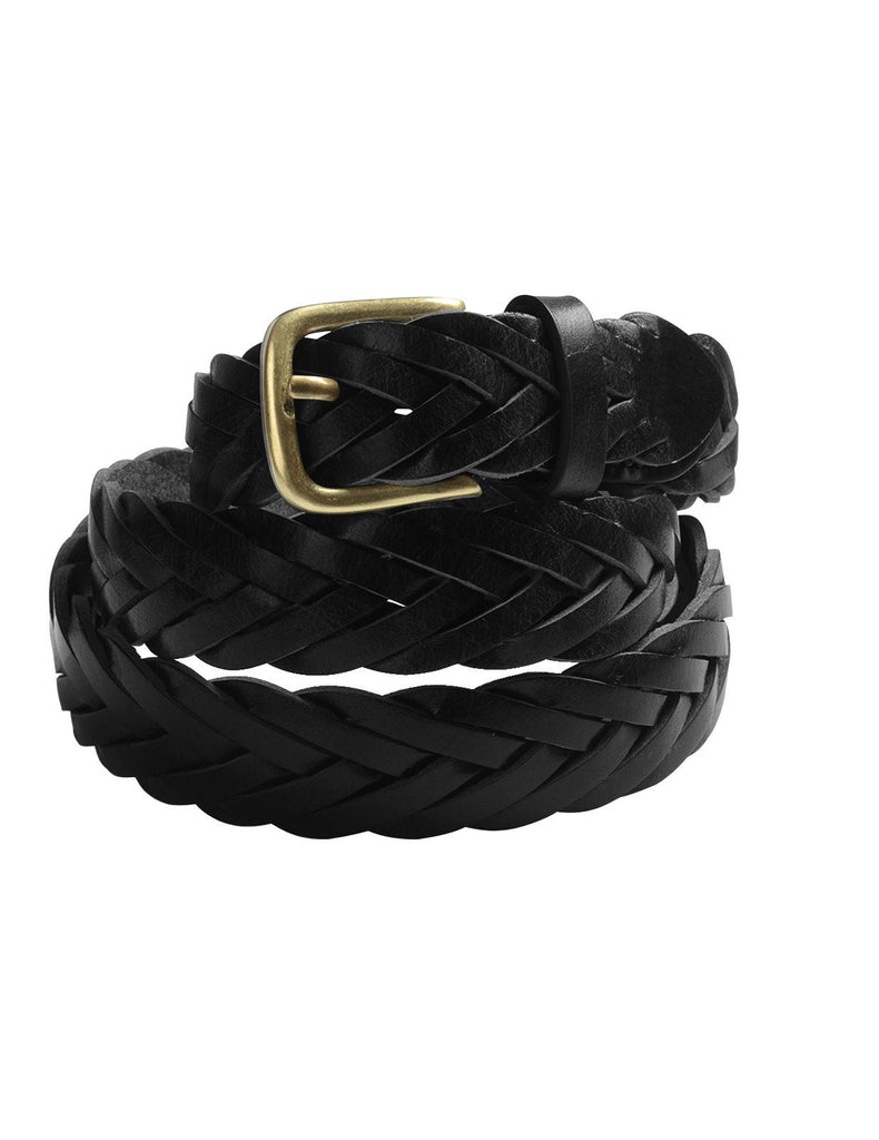 Mens Braided Elastic Stretch Mesh Leather Belt with Buckle (Y414)