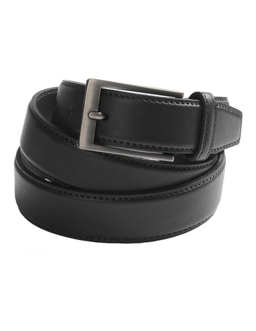 Mens Classic Dress Genuine Leather Belt with Buckle (Y416)