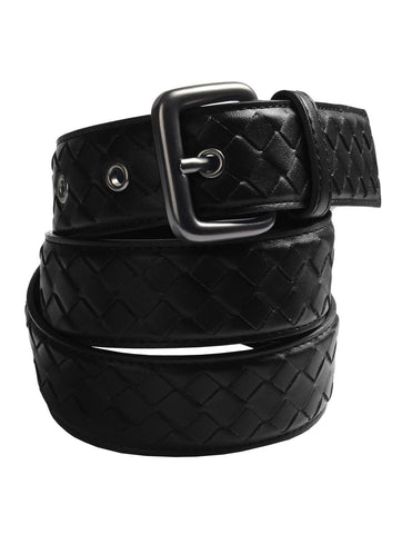 Mens Casual Genuine Leather Braided Belt (Y417)