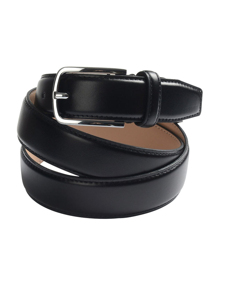 Mens Classic Stitched Genuine Leather Belt with Buckle (Y419)