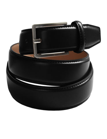 Mens Width 30mm Genuine Leather Classic Dress Belt with Single Prong Buckle (Y420)