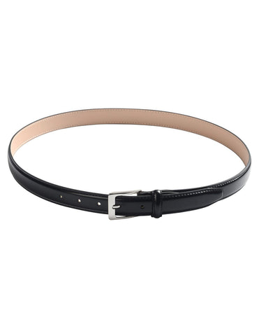 Mens Width 25mm Genuine Leather Classic Dress Belt with Single Prong Buckle (Y421)