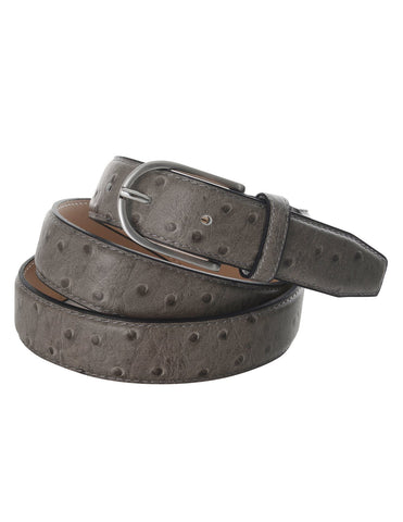 Mens Ostrich Print Leather Dress Belt (Y427)