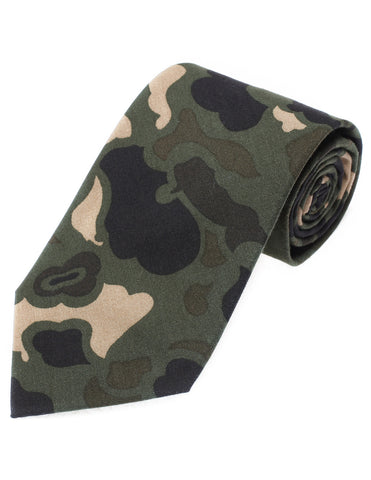 Mens Designer Cotton Military Camo Pattern Neck Tie (YA001)