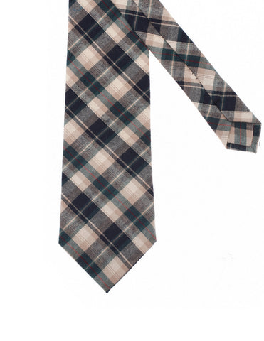 Mens Designer Woven Check Pattern Plaid Cotton Tie (YA005)