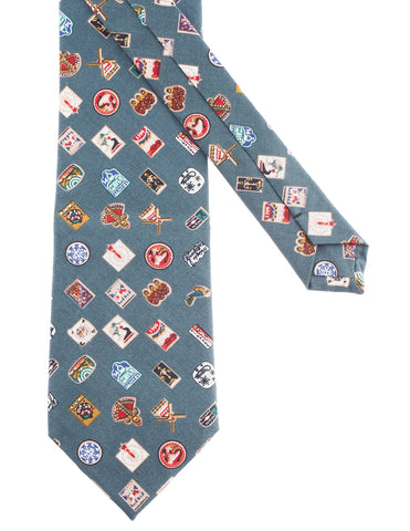 Mens Various Pattern Printed Neck Tie Cotton (YA009)