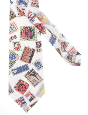 Mens Stamp Pattern Printed Neck Tie Cotton (YA011)