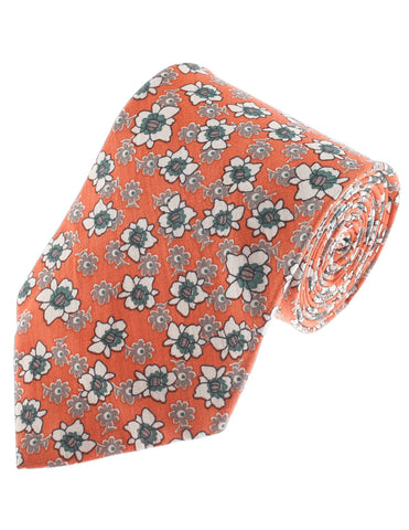 Mens Flower Printed Floral Pattern Cotton Neck Tie (YA012)