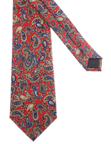Mens Classic Small Paisley Pattern Neck Tie (YA014)
