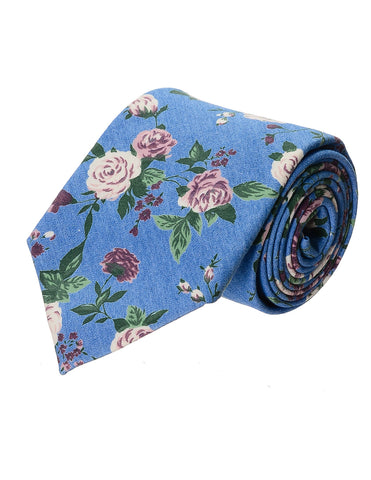 Mens Floral Printed Pattern Cotton Neck Tie (YA020)