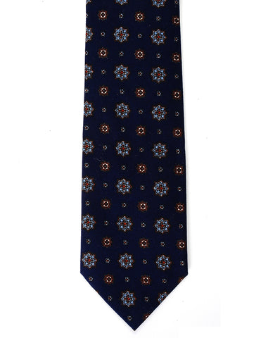 Mens Flower Printed Design Floral Neck Tie (YA022)