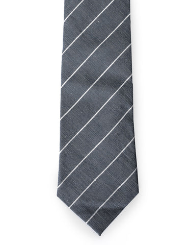 Mens Casual Thin Striped Neck Tie (YA023)