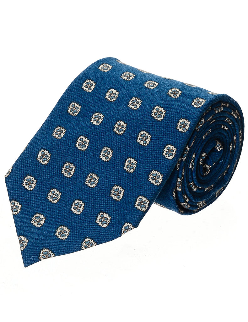 Mens Desingner Cotton Printed Floral Neck Tie (YA024)