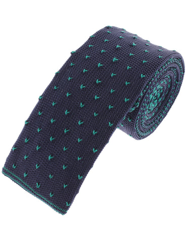 Mens Small Heart Skinny Casual Knit Tie Necktie (YA501)