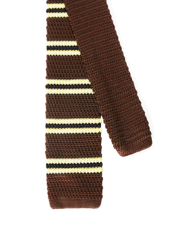 Mens Casual 2 Color Stripe Knit Neck Tie (YA506)