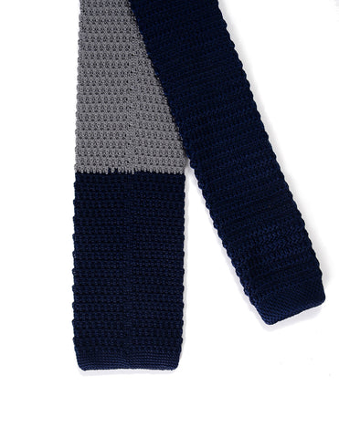 Mens Color Blocked Knit Tie Neck Tie (YA507)