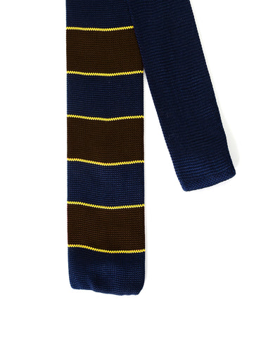 Mens Casual Wide Stripes Skinny Necktie Knit tie (YA508)
