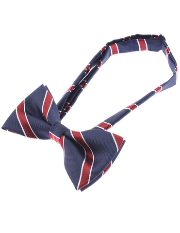 Mens Wide Striped Bow Tie Pre-Tied (YB003)