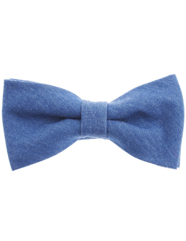 Mens Blue Denim Color Pre-Tied Bow Tie (YB007)