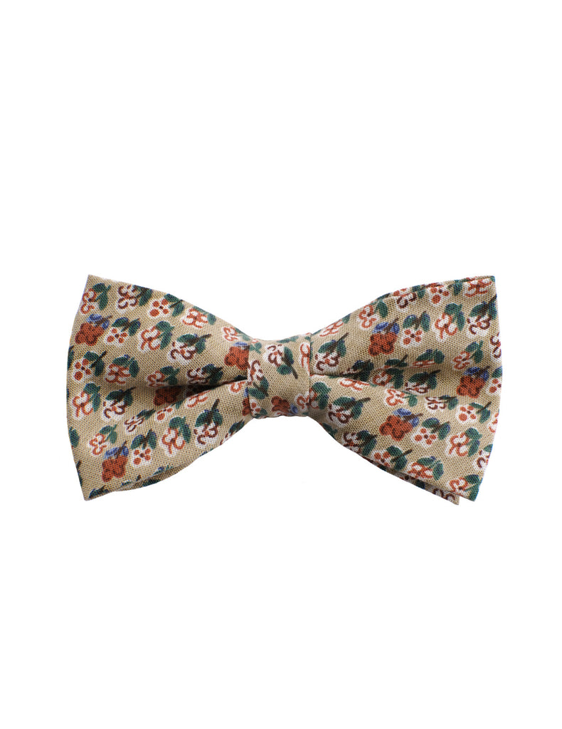 Mens Small Floral Printed Pre Tied Bow Ties (YB020)