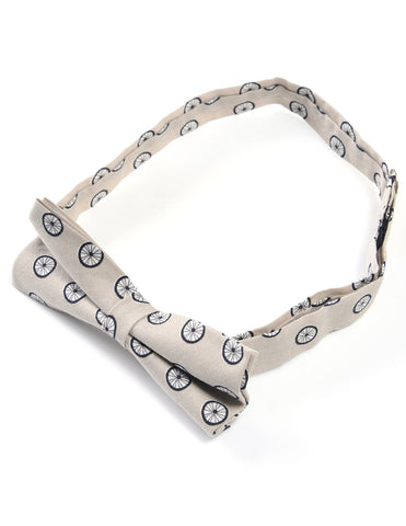Mens Casual Bicycle Tire Pattern Bow Tie Pre-Tied (YB021)