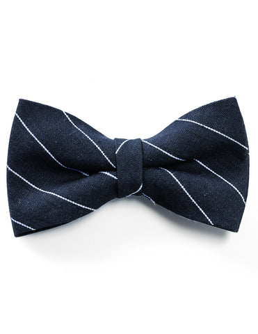Mens Self-Tie Denim Cotton Striped Casual Bow Tie (YB023)