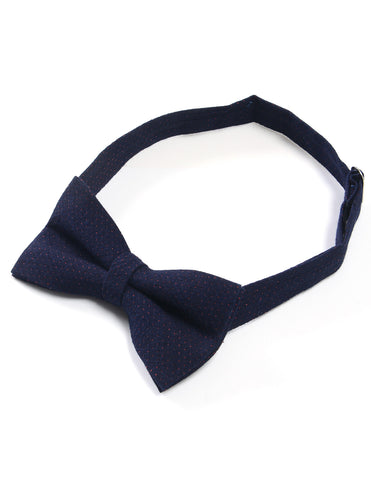Mens Wool Blend Tiny Polka Dots Pre-Tied Bow Tie (YB024)