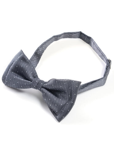Mens Classic Small Polka Dots Microfiber Pre-Tied Bow Tie (YB025)