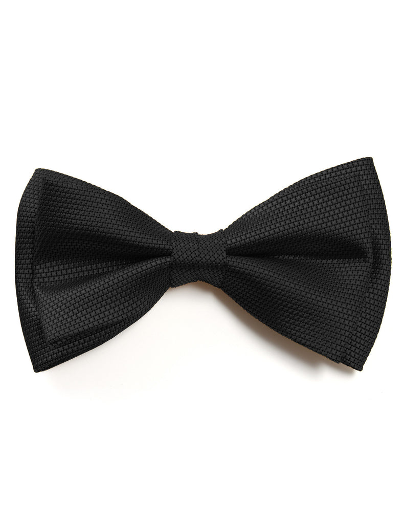 Mens Classic Solid Tuxedo Pre-Tied Bow Tie (YB028)