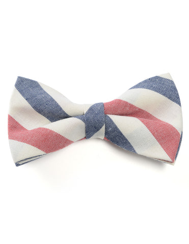 Mens Casual Cotton Striped Bow Tie (YB033)