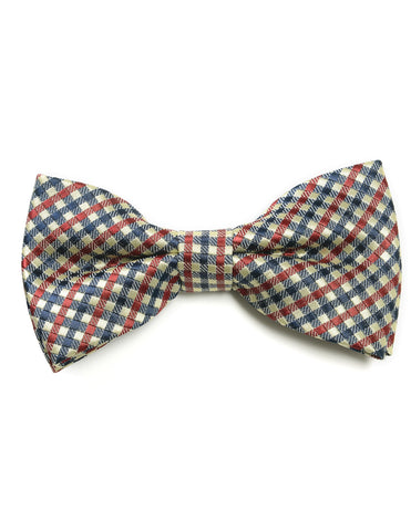 Mens Formal Plaid Pre-tied Bow Tie (YB034)