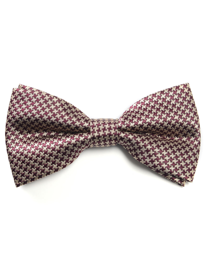 Mens Classic Pinwheel Pattern Wedding Party Pre-Tied Bow Tie (YB036)