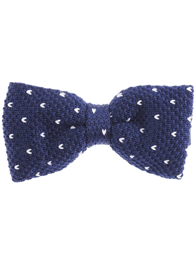 Mens Knitted Bow Tie Small Heart Pre-Tied Bowtie (YB501)