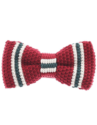 Mens Pre-Tied Knit Bow Tie Striped Pattern Bowtie (YB502)