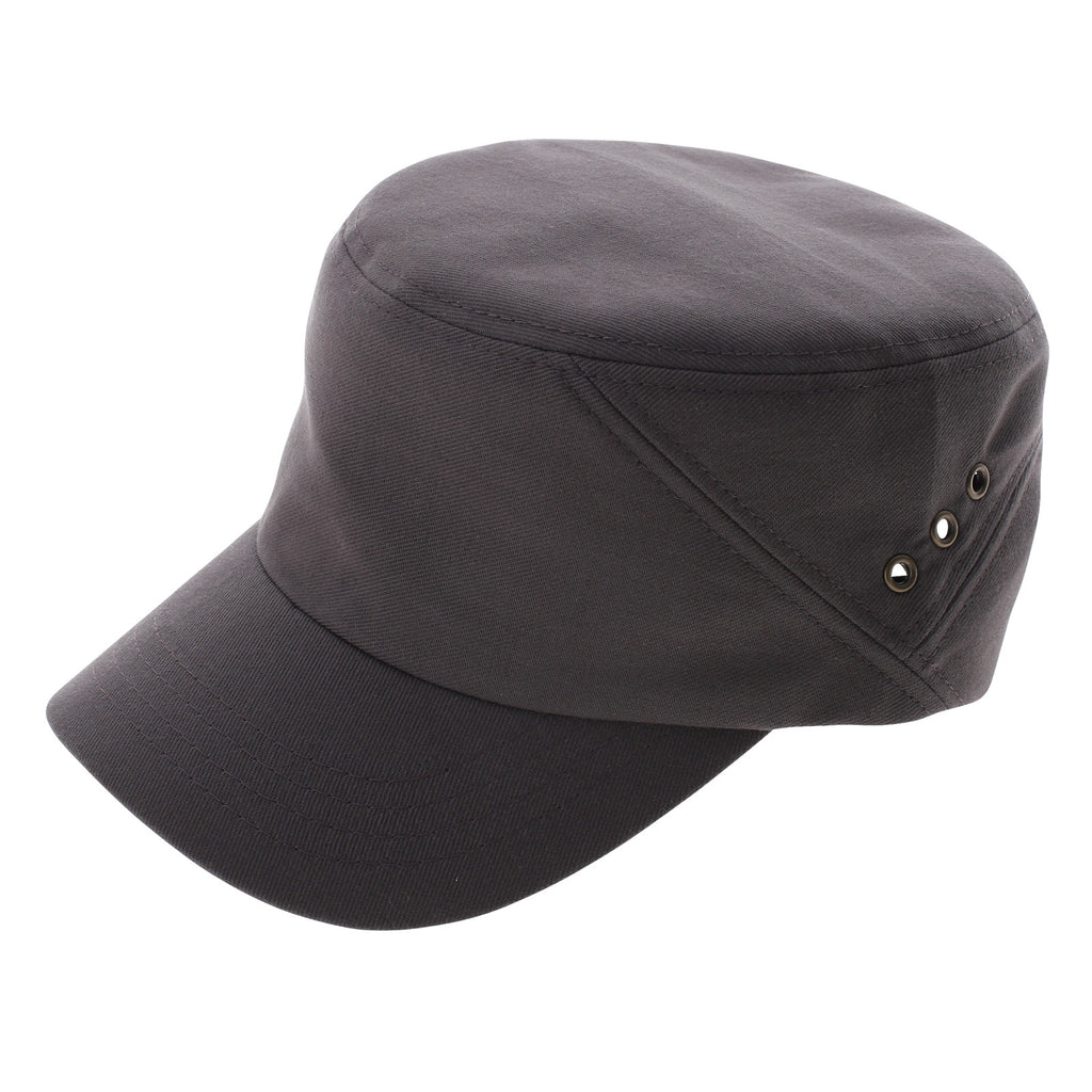 Mens Womens Simple Solid Military Cap Cotton (Z101)