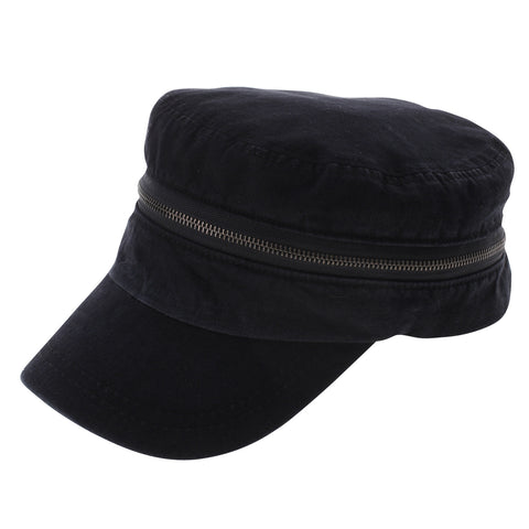Mens Womens Designer Military Cap with Zipper (Z107)