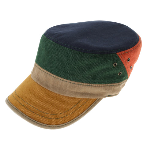 Mens Womens Designer Mixed Colored Splendid Military Cap (Z111)