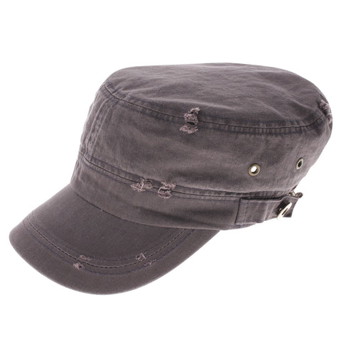 Womens Designer Vintage Washed Military Cap (Z120)