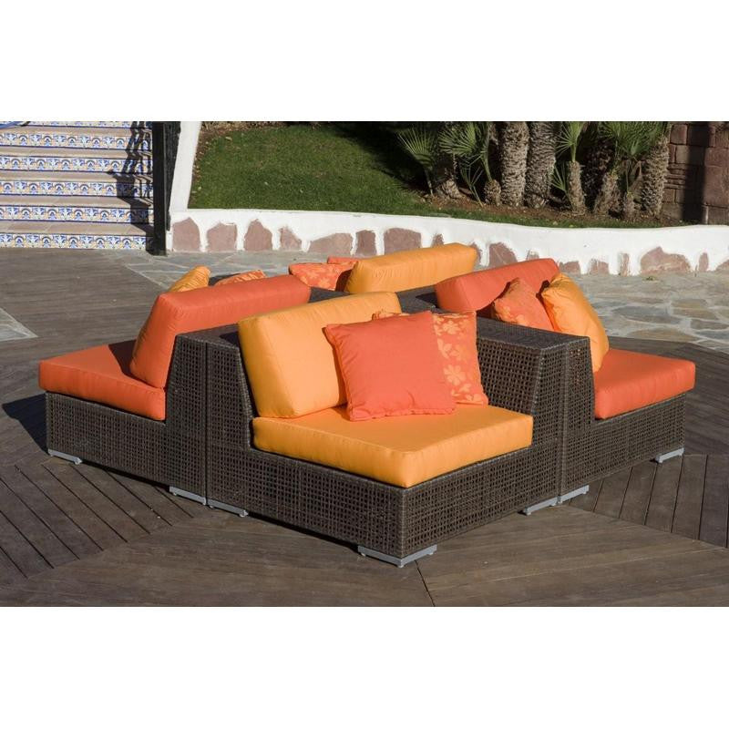 Hospitality Rattan Soho 4 Piece Sectional Set 4 PC SET 903 S4