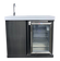 Mont Alpi Beverage Center with Outdoor Fridge and Sink, Black Stainless Steel - MASF-BSS