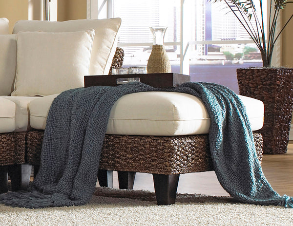 Panama Jack Sunroom Sanibel Ottoman With Cushion Pjs 1001